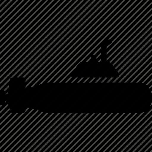 solid, submarine, transport icon