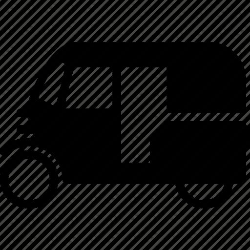 solid, transport, tuk icon