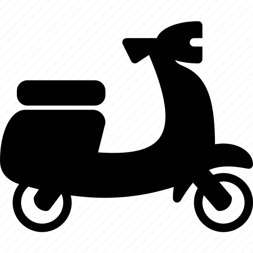 scooter, solid, transport icon