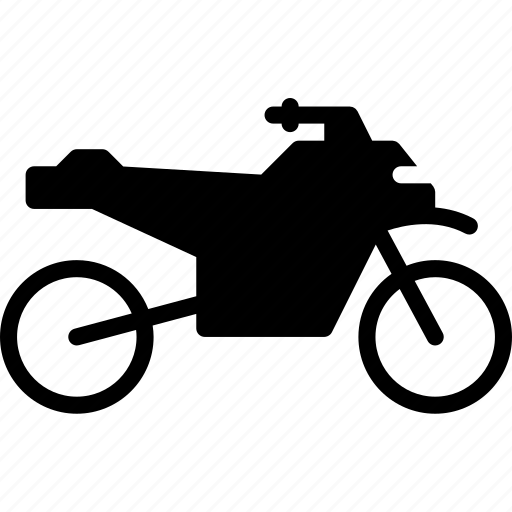 bike, quad, solid, transport icon