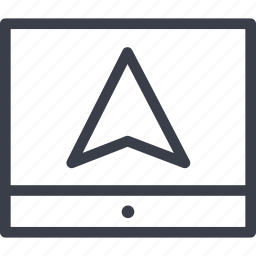 arrow, pointer, sign, transport icon