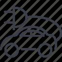 transport, electric, car, transportation icon