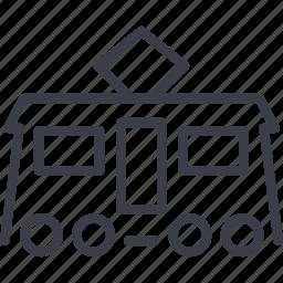 shipping, tram, transport, transportation, vehicle icon
