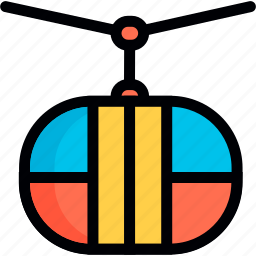 cable, cable-railway, cableway, funicular, funicular railway, jumping, rope icon