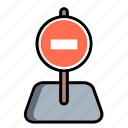auto, car, no way, road, simbol, stop, traffic icon