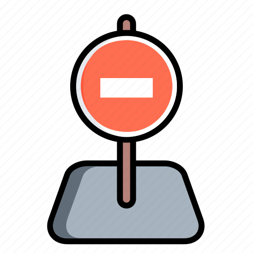 auto, car, no way, road, simbol, stop, traffic icon