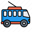 bus, public, trackless trolley, tram, transport, trolleybus, vehicle icon