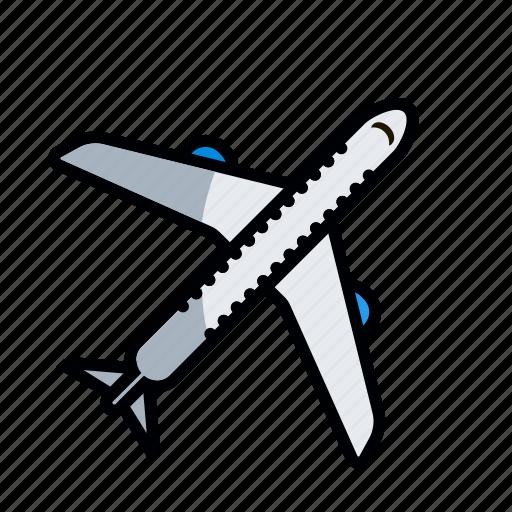 aircraft, airplane, craft, machine, plane, ship, travel icon
