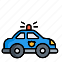 car, cop, law, officer, police, policeman, transport icon