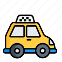auto, cab, hack, hackney carriage, taxi, taxicab, traffic icon