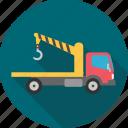 crane, truck, cargo, construction, lorry, transportation, vehicle icon