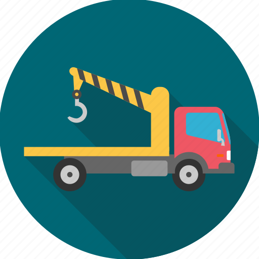 cargo, construction, crane, lorry, transportation, truck, vehicle icon