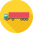 truck, lorry, road, transport, transportation, vehicle icon