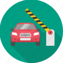 car, check stop, checking, point, stop, traffic icon