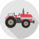tractor, heavy vehicle, transport, transportation, vehicle, work icon