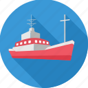 boat, cruise, marine, sea, ship, transport, water icon