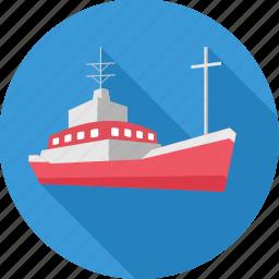 boat, cruise, marine, sea, ship, transport, water icon
