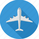 aeroplane, aircraft, airplane, flight, plane, transport, travel icon