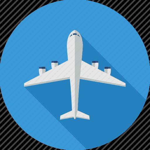 aeroplane, aircraft, airplane, flight, plane, transport, travel icon