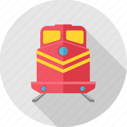 metro, railroad, railway, train, tramway, transport icon
