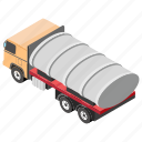 fuel truck, gas truck, oil tanker, oil transport, transport icon