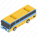 bus, mass transit, public transit, public transport, school bus, shuttle bus icon