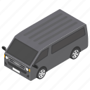 automobile, motor, transport, van, vehicle icon