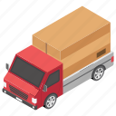 delivery truck, delivery van, distribution truck, freight truck, shipping truck, shipping vehicle icon