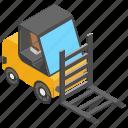 fork hoist, fork truck, forklift, forklift truck, lift truck icon