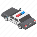 mobile transport, patrol car, police car, police van, transport icon
