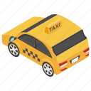 auto, automobile, cab, taxi, taxicab, vehicle icon