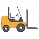 car picker, cherry picker, heavy machinery, transport, vehicle icon