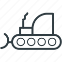 concrete bulldozer, construction, crane, lifter, lifting machine icon