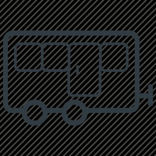 caravan, cargo trailer, journey, transport, travel trailer icon