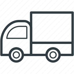 cargo, commercial car, delivery truck, delivery van, transport icon
