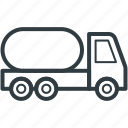 freight, fuel truck, gas tanker, industrial wheeler, shipping icon