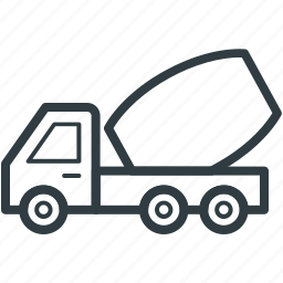 concrete mixer, construction equipment, construction vehicle, industrial transport, truck icon