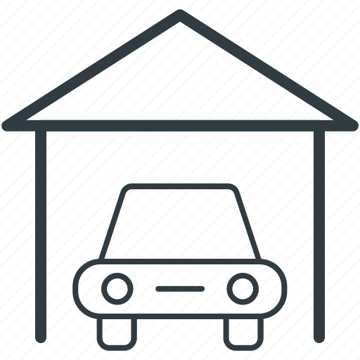 automotive, car, porch, transport, vehicle icon