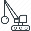crane loading, heavy machinery, industrial crane, lifting, lifting machine icon