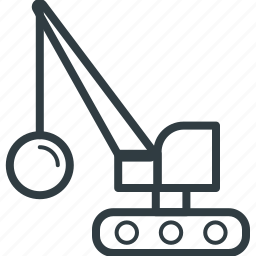 crane loading, heavy machinery, industrial crane, lifting, lifting machine icon