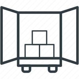 cargo truck, freight, loading, shipment, shipping icon