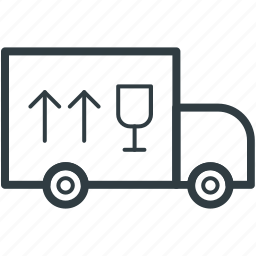 delivery van, distribution, shipping van, transport, vehicle icon