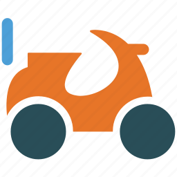 motorbike, motorcycle, scooter, scrambler icon