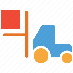 forklift, lifter, lifter truck, truck icon
