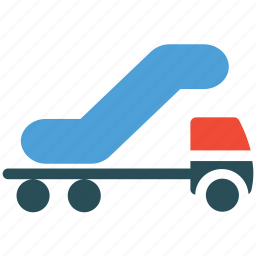 airport truck, cargo, transport, transportation icon
