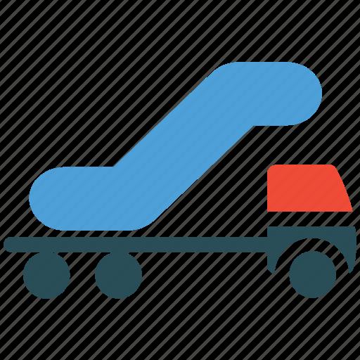 airport truck, cargo, transport, transportation icon