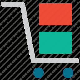 delivery, hand truck, platform, platform truck icon
