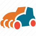 construction vehicle, road roller, steam roller, vehicle icon