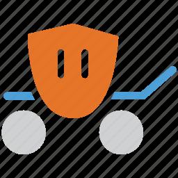 cart, royal car, royal cart, travel icon