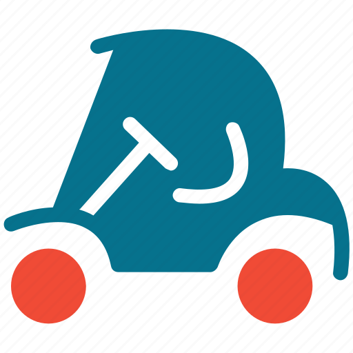 golf car, golf cart, sports car, sports vehicle icon